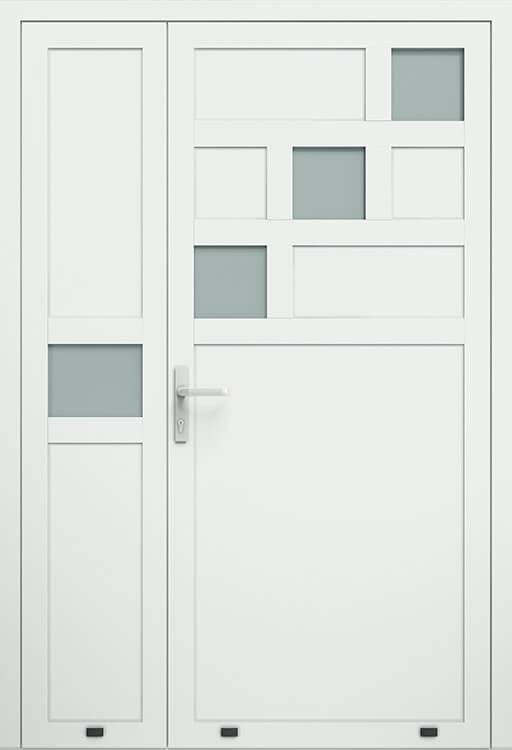 Алюмінієві зовнішні двері Plus Line wisniowski. AW 026-2 | RAL 9016
