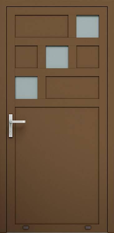Алюмінієві зовнішні двері Plus Line wisniowski. AW 026 | RAL 8014
