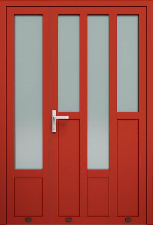 Алюмінієві зовнішні двері Plus Line wisniowski. AW 027-2 | RAL 3000