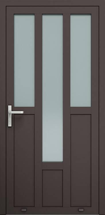 Алюмінієві зовнішні двері Plus Line wisniowski. AW 027 | RAL 8019