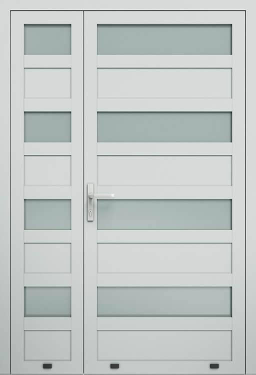 Алюмінієві зовнішні двері Plus Line wisniowski. AW 028-2 | RAL 7035