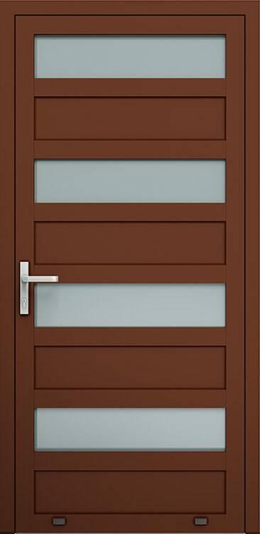 Алюмінієві зовнішні двері Plus Line wisniowski. AW 028 | RAL 8016