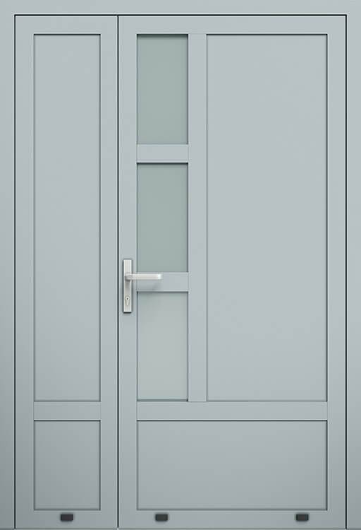 Алюмінієві зовнішні двері Plus Line wisniowski. AW 029-2 | RAL 7040