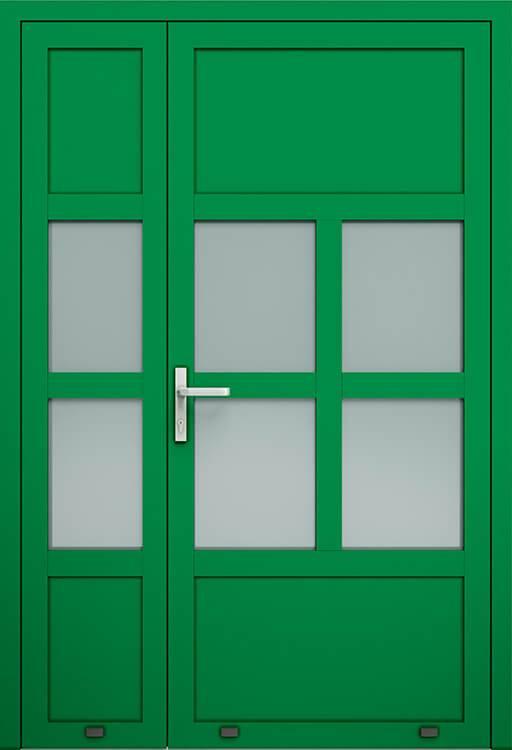 Алюмінієві зовнішні двері Plus Line wisniowski. AW 030-2 | RAL 6029