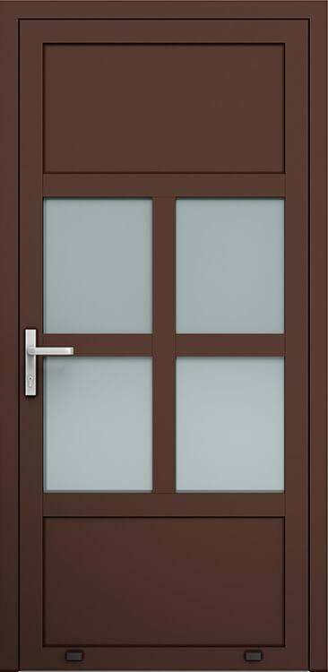 Алюмінієві зовнішні двері Plus Line wisniowski. AW 030 | RAL 8017