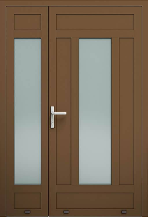 Алюмінієві зовнішні двері Plus Line wisniowski. AW 031-2 | RAL 8014