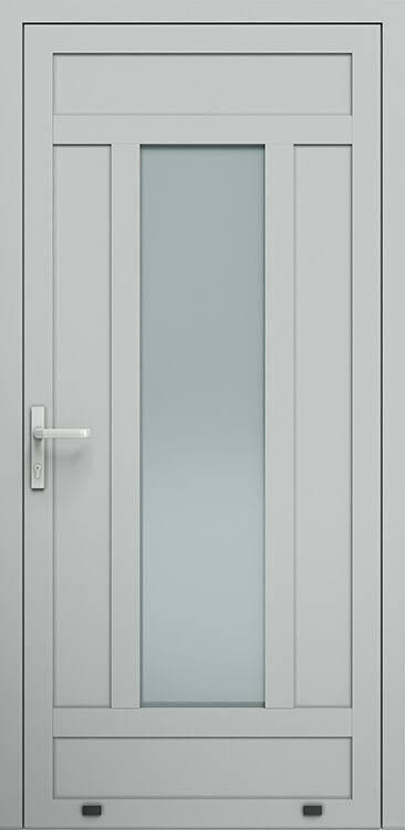 Алюмінієві зовнішні двері Plus Line wisniowski. AW 031 | RAL 9006
