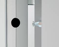 Алюмінієві зовнішні двері Plus Line wisniowski. Протизмінний штир