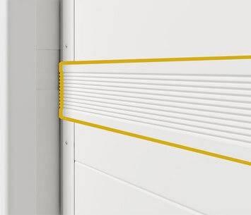 Ефективна теплоізоляція гаражних воріт Prime. Гумове ущільнення (вставки між панелями)