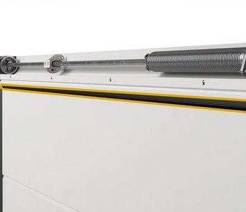 Ефективна теплоізоляція гаражних воріт Prime. Верхнє ущільнення при перемичці