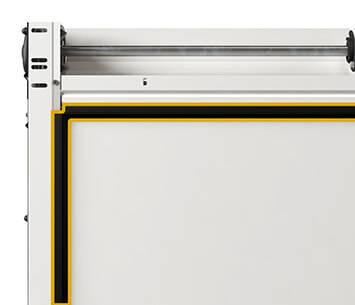 Ефективна теплоізоляція гаражних воріт Prime. Бічні ущільнення
