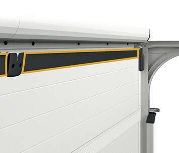 Ефективна теплоізоляція гаражних воріт Prime. Додаткове внутрішнє ущільнення по верхньому краю