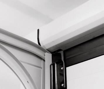 Безпечні ворота prime для гаражу. Вбудований захисний короб валу та пружин