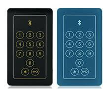 Вхідні алюмінієві двері Creo wisniowski. Зчитувач Bluetooth з сенсорною клавіатурою