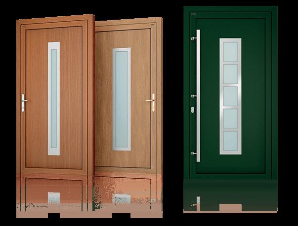 Алюмінієві зовнішні двері Deco wisniowski
