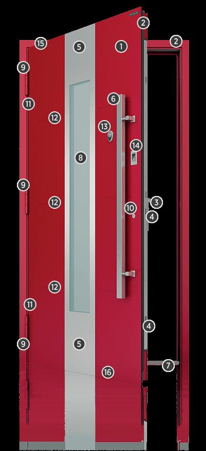 Вхідні алюмінієві двері Creo, характеристики