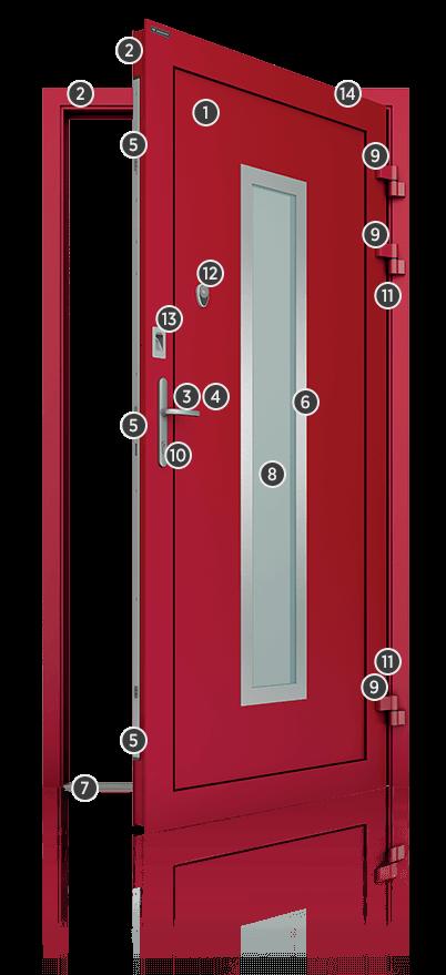 Алюмінієві зовнішні двері Deco wisniowski. Характеристики