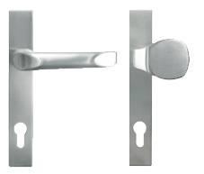 Алюмінієві зовнішні двері Plus Line wisniowski. Jupiter стаціонарна ручка та ручка кнопка