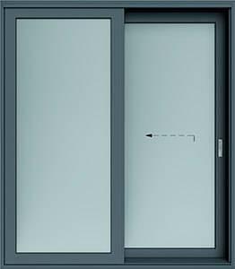 Алюмінієві терасні двері wisniowski. Схема A | RAL 7016