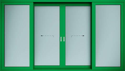 Алюмінієві терасні двері wisniowski. Схема C | RAL 6029