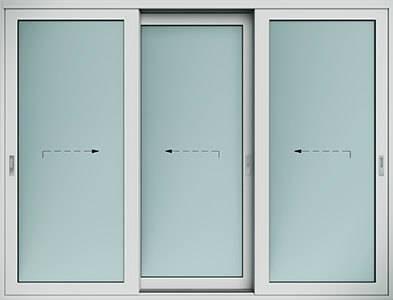 Алюмінієві терасні двері wisniowski. Схема H | RAL 7035