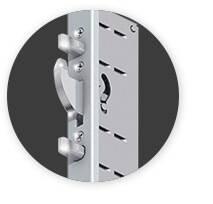 Вхідні алюмінієві двері Creo wisniowski. Багатоточковий електричний замок Multitronic-2
