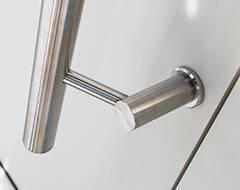 Алюмінієві зовнішні двері Plus Line wisniowski. Стаціонарні ручки