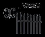 Системні елементи vario для огорожі