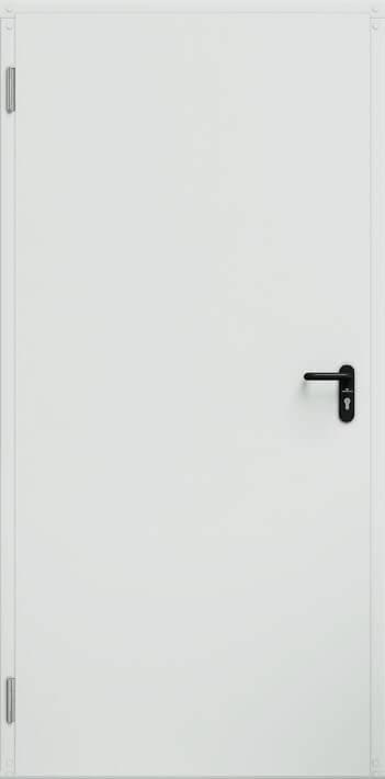 Промислові суцільні сталеві двері wisniowski ECO BASIC UNI | RAL 9016