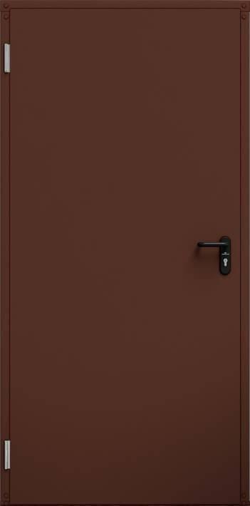 Промислові суцільні сталеві двері wisniowski ECO BASIC UNI   RAL 8017