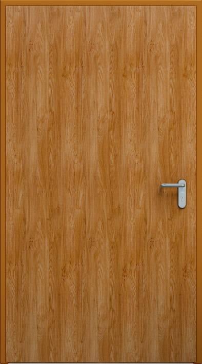 Суцільні сталеві двері wisniowski. Двері ECO | Золотий дуб, коробка RAL 8003