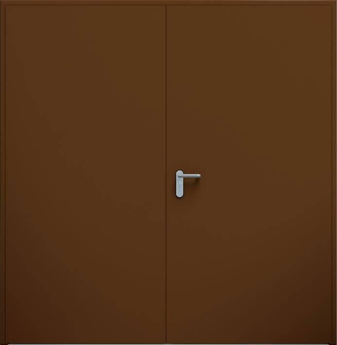 Суцільні сталеві двері wisniowski. Двостулкові двері ECO | RAL 8014