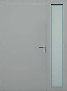 Суцільні сталеві двері wisniowski. Права фрамуга (PD)
