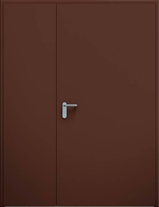 Суцільні сталеві двері wisniowski. Двостулкові несиметричні двері ECO | RAL 8017