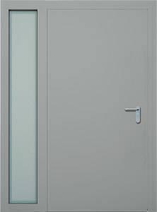 Суцільні сталеві двері wisniowski. Ліва фрамуга (LD)