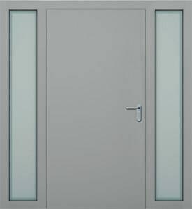 Суцільні сталеві двері wisniowski. Права + ліва фрамуга (PD+LD)