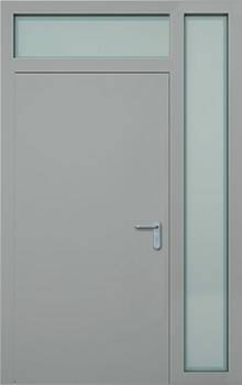 Суцільні сталеві двері wisniowski. Права фрамуга + верхня фрамуга (PD+GD)