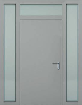 Суцільні сталеві двері wisniowski. Права + ліва + верхня фрамуга (PD+LD+GD)