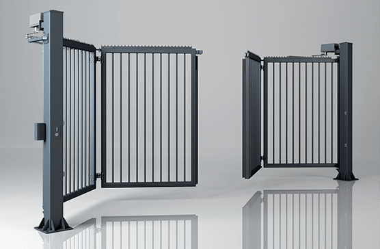 Двостулкові складні промислові ворота V-KING із заповненням профілем 25×25 мм