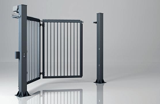 Одностулкові праві промислові ворота V-KING із заповненням профілем 25×25 мм