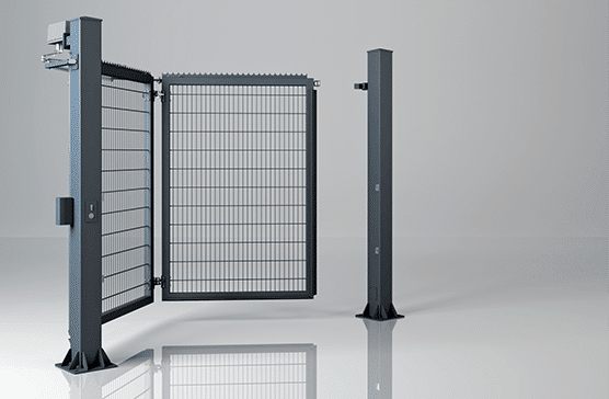 Одностулкові праві промислові ворота V-KING із заповненням решітчастою панеллю Vega 2D Super