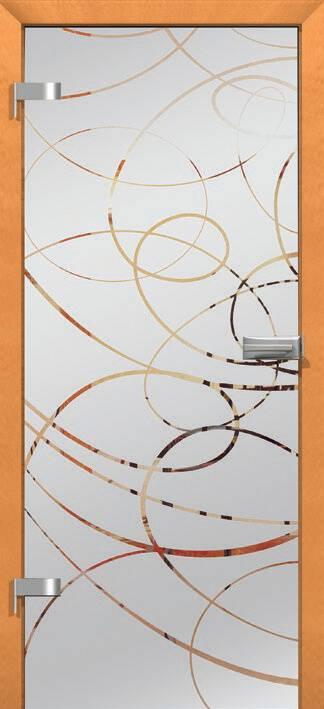 Повністю скляні двері wisniowski. Дизайн та орнаменти DC 008