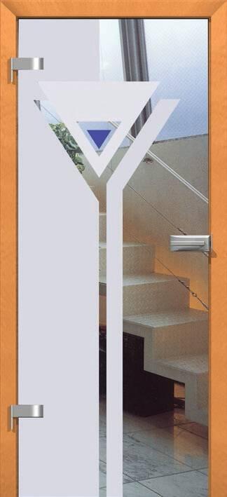 Повністю скляні двері wisniowski. Дизайн та орнаменти DC 011