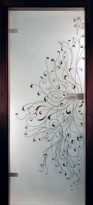Повністю скляні двері wisniowski. Дизайн та орнаменти DC 017