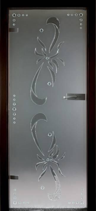 Повністю скляні двері wisniowski. Дизайн та орнаменти DC 018