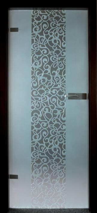 Повністю скляні двері wisniowski. Дизайн та орнаменти DC 019