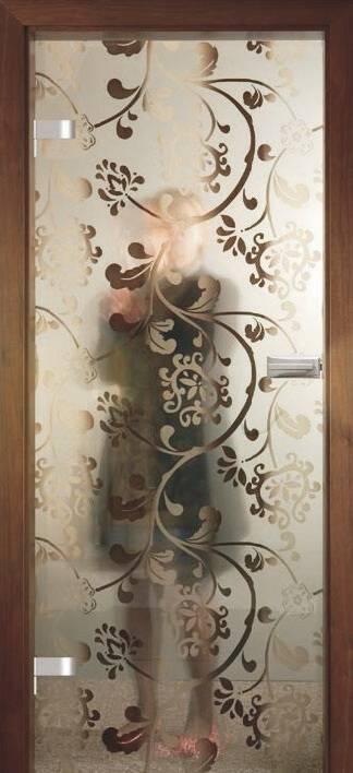 Повністю скляні двері wisniowski. Дизайн та орнаменти DC 020