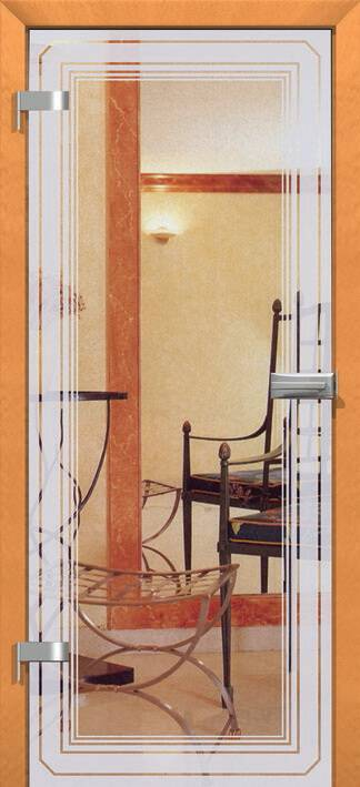 Повністю скляні двері wisniowski. Дизайн та орнаменти DC 022