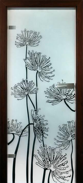 Повністю скляні двері wisniowski. Дизайн та орнаменти DC 024
