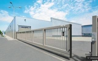 Промислові відкатні ворота для огорожі-2